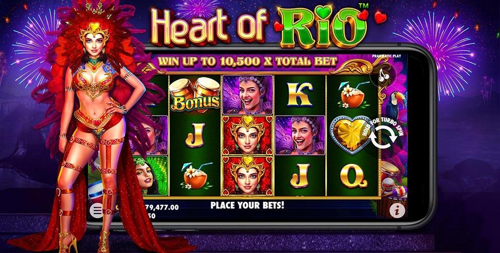 I colori del carnevale di Rio nella slot machine Heart of Rio di Pragmatic Play